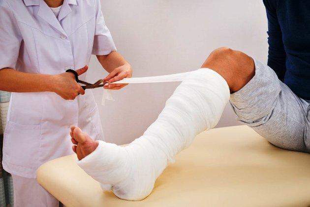 гипсовая повязка при переломе сустава