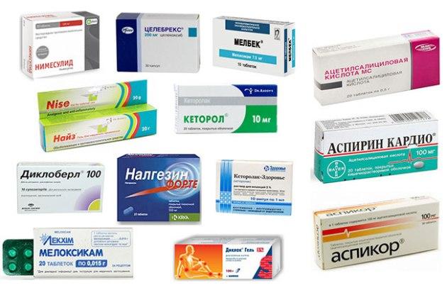 Список таблеток для суставов от боли и воспаления